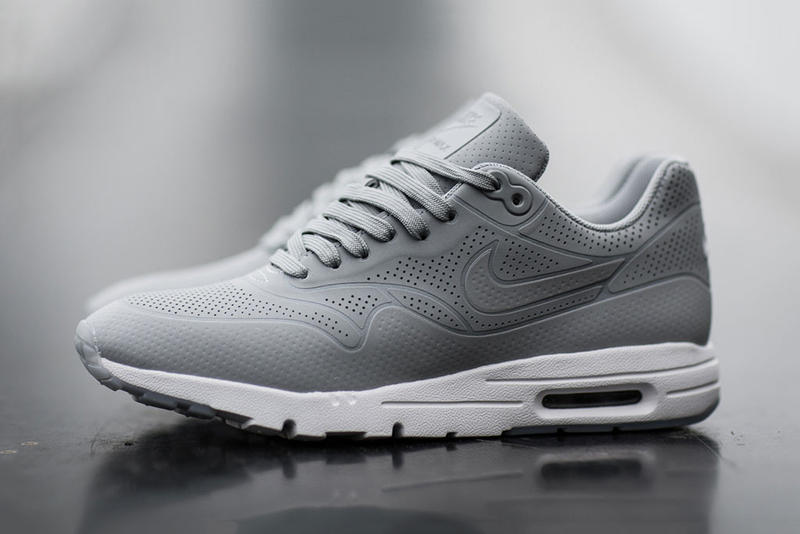 """buy popular a5bc1 c65fb Nike s Air Max 1 Ultra Moire returns in a """"Wolf Grey"""" colorway. The  monochrome look is compromised"""