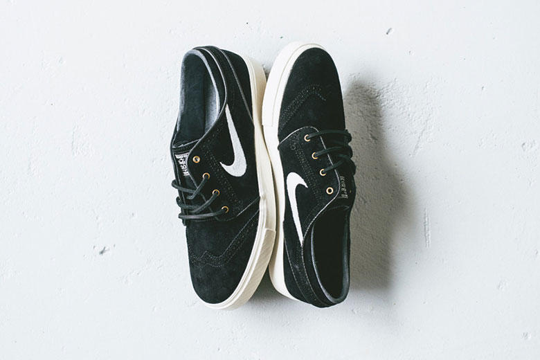 new arrival 579e1 6f8d5 Nike has translated a familiar design aspect of formal dress shoes to a  pair of Nike SB Janoski