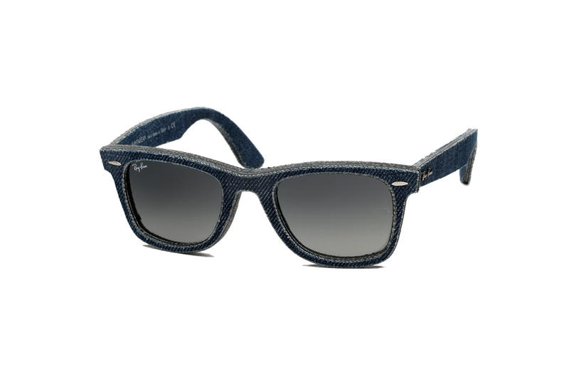 aaa0183a1f Ray-Ban s decorated Wayfarer sunglasses have been reimagined with a denim  construction. Handmade in