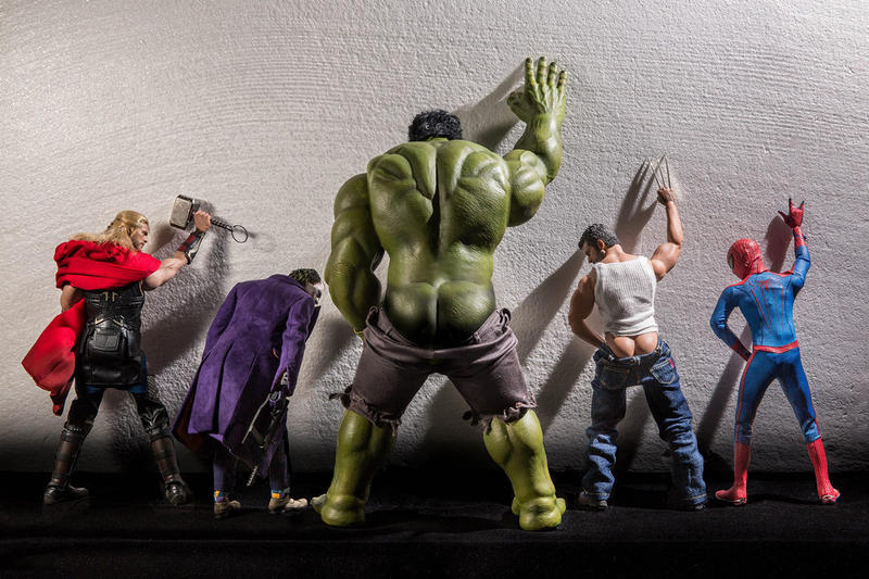 Superheroes up to No Good in Cheeky Photo Series
