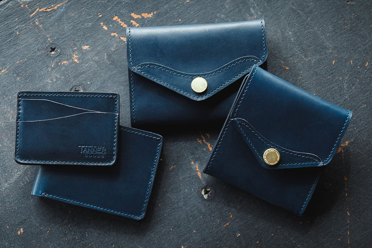 new styles 22a5d 9985c Tanner Goods Limited Edition Indigo Wallet Series