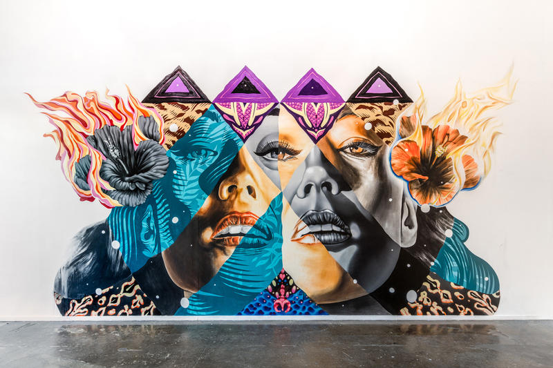 new arrival 1f4a7 a039c Hawaii-based artist Kamea Hadar and renowned Los Angeles painter Tristan  Eaton recently teamed up