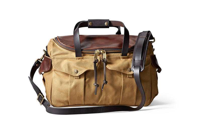 Filson Have Released A Rugged Twill And Horween Leather Heritage Sportsman Bag For The Summer