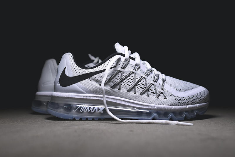 more photos 84eec 1eea7 Check out Nike s Air Max 2015 in a classic white and black combination.  Nike s latest technology