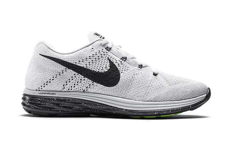 pretty nice f5a74 fc89d Nike Flyknit Lunar 3 White Black. Flyknit and flashy colors have always  been complementary to one another. And even though Nike s