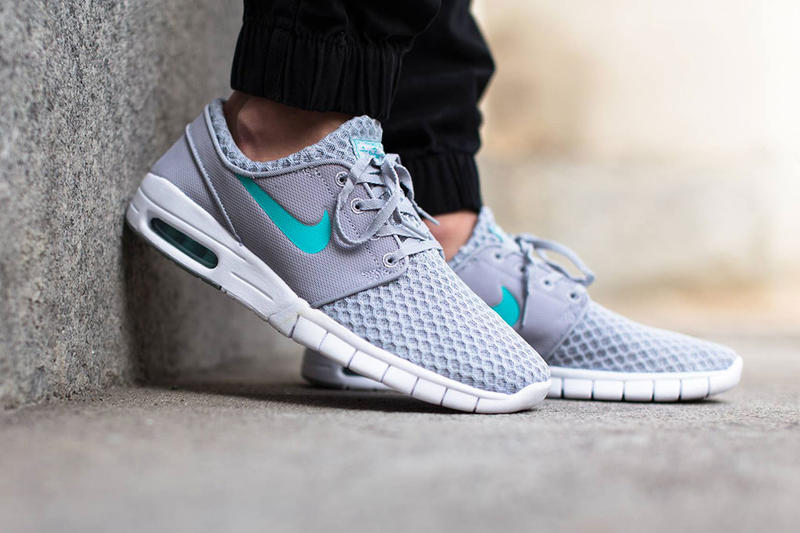 5079fc3776f0 Nike releases the neutral-colored Nike SB Stefan Janoski Max Wolf  Gray Light Retro-White. Stefan