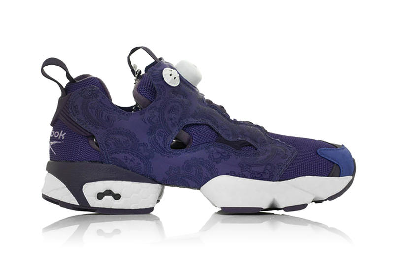 "9556c5b18b6f ... Reebok has dropped an Instapump Fury OG in a luxurious looking ""Purple  Paisley."
