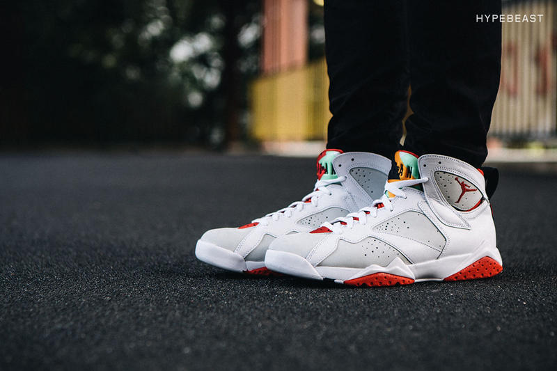"""f606e010d0b We take a closer look at the 2015 Air Jordan 7 Retro """"Hare,"""" which Jordan  Brand recently"""