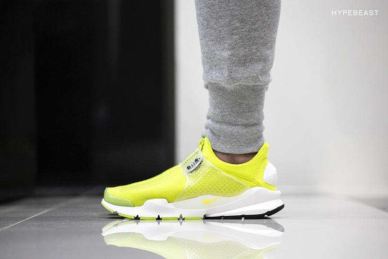 """on sale 7d68c 7575c The Nike Sock Dart SP in its """"Volt"""" colorway undergoes an in-house  examination at our hands. Kitted"""