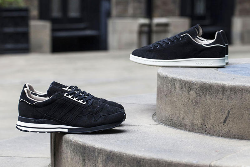 "wholesale dealer 08820 c2a14 adidas releases new black iterations of the Stan Smith and ZX 500 OG models  with the ""Made in"