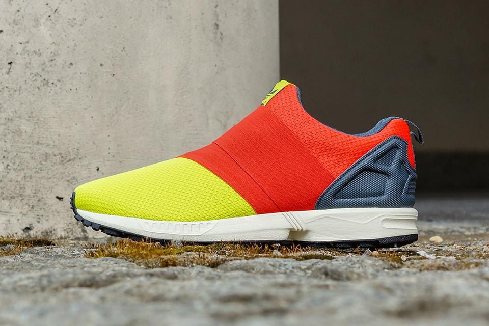 designer fashion c274a a91ae adidas Originals ZX Flux Slip On Semi Solar Yellow Hi-Res Red Bold Onyx    HYPEBEAST