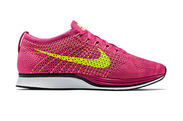 "d02abb6d59d8 Nike Flyknit Racer Fireberry Pink Flash-Volt. Following the unveiling of  the ""Sport Turquoise"" colorway just a couple of days back"