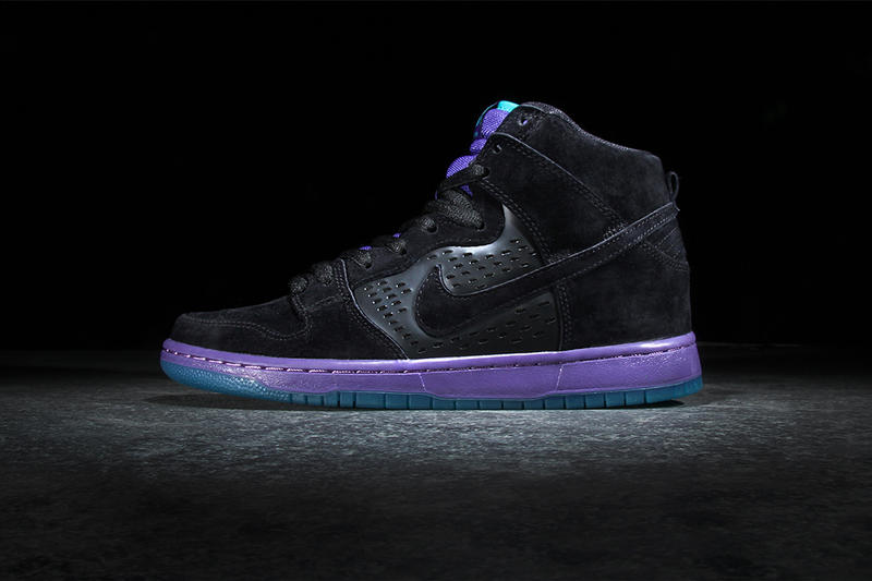"huge discount e0bb4 dffa3 Nike SB s latest Air Jordan-inspired Dunk comes in the form of the Dunk  High Premium ""Black Grape."""