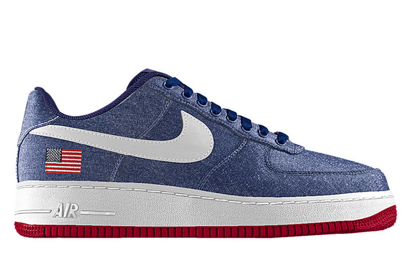 huge discount a2481 b3a15 ... 1 on nike id Sneaker customization service NikeiD has added an  embroidered flag option for the Nike Air Force ...