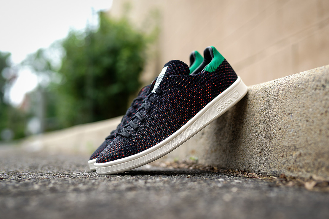 on sale 9bf49 61c32 adidas Originals Stan Smith Primeknit Black/Green/Orange ...