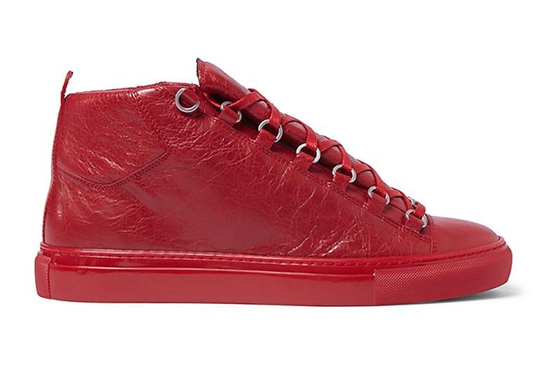 Balenciaga Arena Creased Red Leather