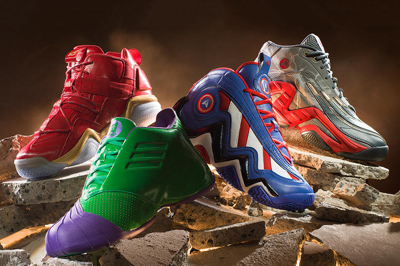 adidas Teams Up With The Avengers On Four Retro Basketball Sneakers ... e9257cd1aa2f