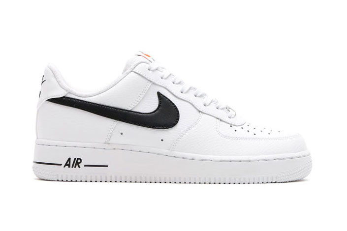 air force 1 low black with white swoosh
