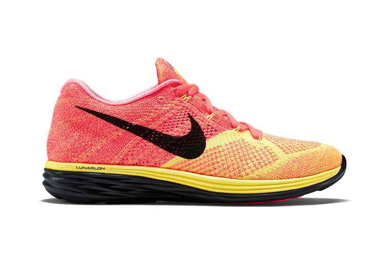 eca328cc44447 Nike Flyknit Lunar 3 Hot Lava Laser Orange-Black