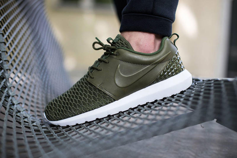 the best attitude 9cf02 328e2 Nike Roshe One Flyknit Premium Rough Green Black-Sequoia. The immensely  popular Roshe One silhouette gets another color update for the summer.