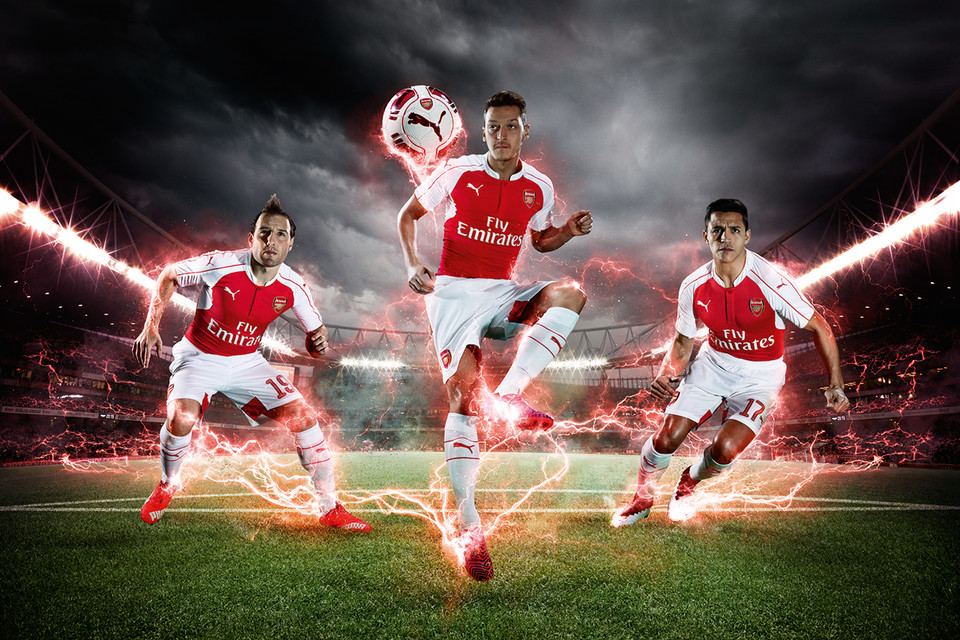 PUMA Launches Arsenal 2015 16 Home Kits  6f822e272