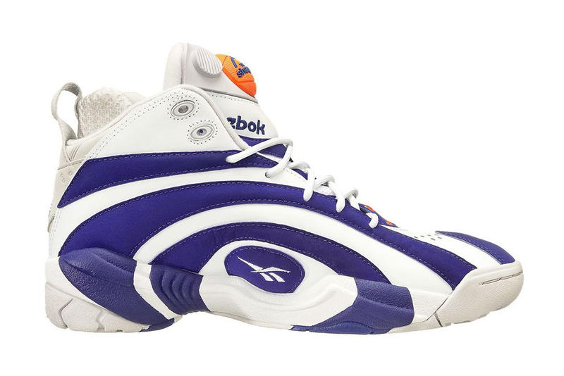 34f59a39e959 Shaquille O Neal s signature retro Reebok shoe is upgraded with a Pump  system.
