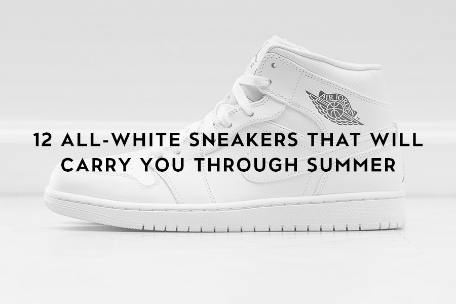 12 All-White Sneakers That Will Carry You Through Summer