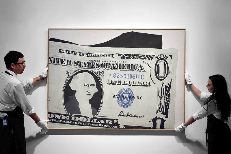 Andy Warhols One Dollar Bill Sells For 328 Million Usd Hypebeast