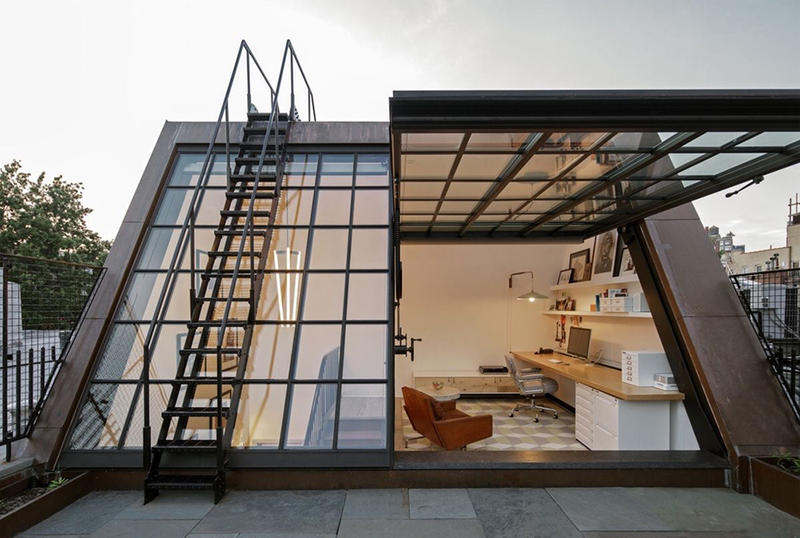 Greenwich Village Rooftop Office by BW Architects