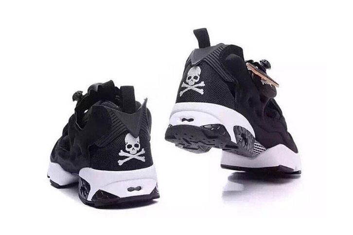 f779727513b0 mastermind JAPAN x Reebok Instapump Fury. The classic laceless sneaker is  outfitted in a black-and white punk-inspired aesthetic.