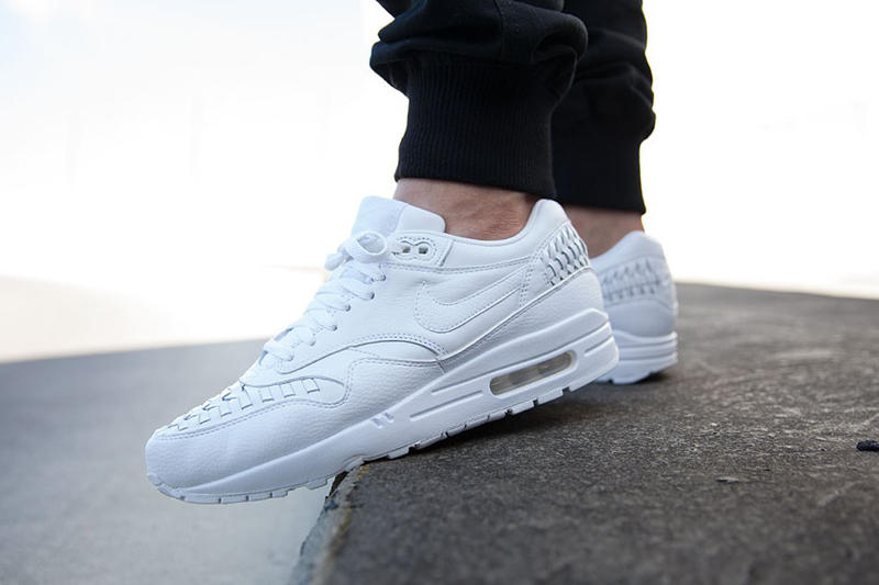 sale retailer b13d2 a9d09 The woven take on the Air Max 1 returns for summer in white.