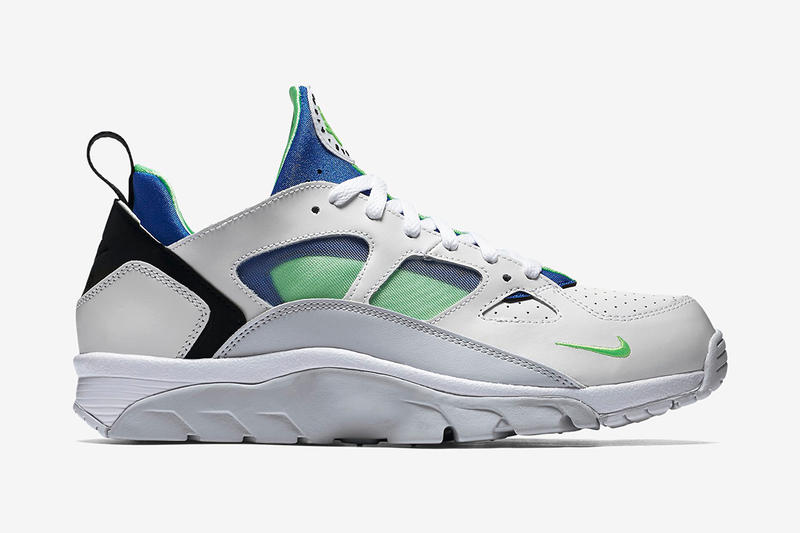 "7643983834f3 The classic ""Scream Green"" colorway makes its way to the low-top take on the  Air Trainer Huarache."