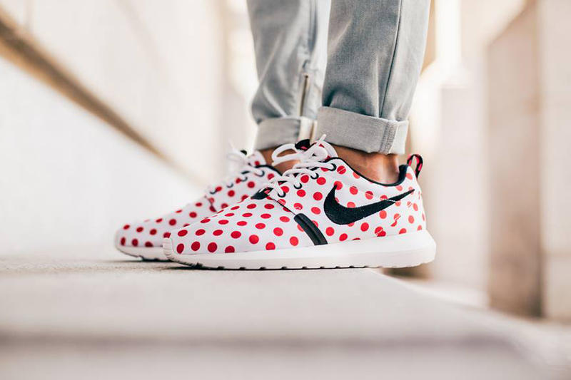 364019cc0ca5 Nike Sportswear drops four polka-dotted colorways of the Roshe NM.