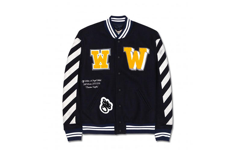c28676511eef Off-White™ c o VIRGIL ABLOH 2015 Fall Winter Letterman Jacket With Patches