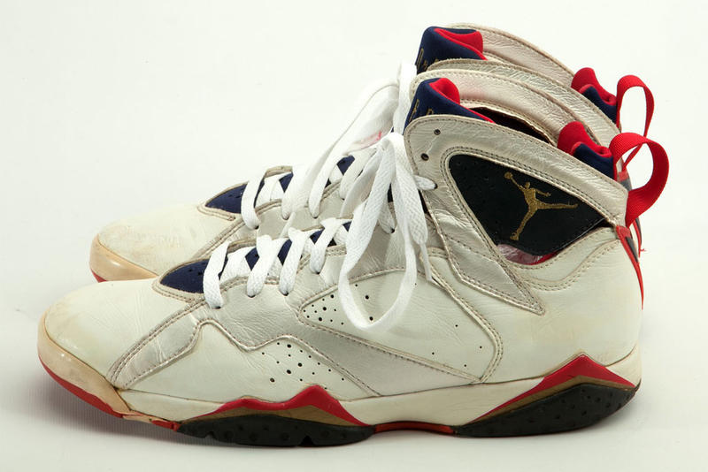 "5906b07ef8ac5a ... Michael Jordan s Game-Worn Sneakers Are up for Auction. From the  92  Olympics to his ""Farewell Season."""