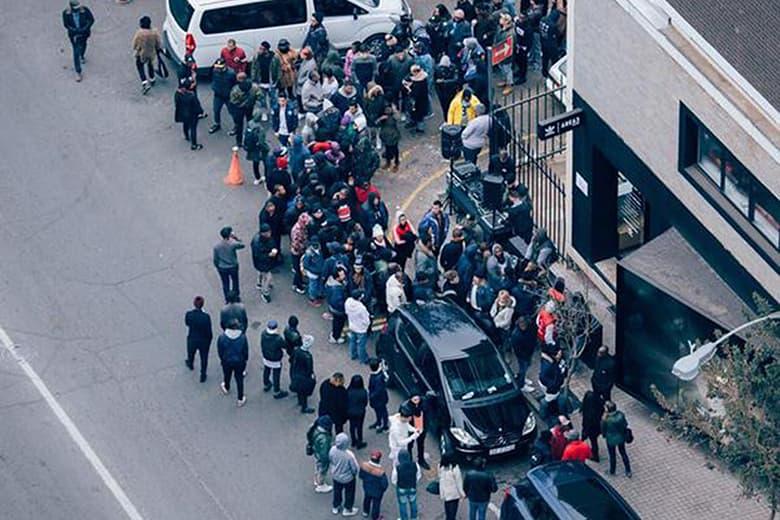 dcda3c59d People Have Been Queuing for the adidas Originals Yeezy Boost 350