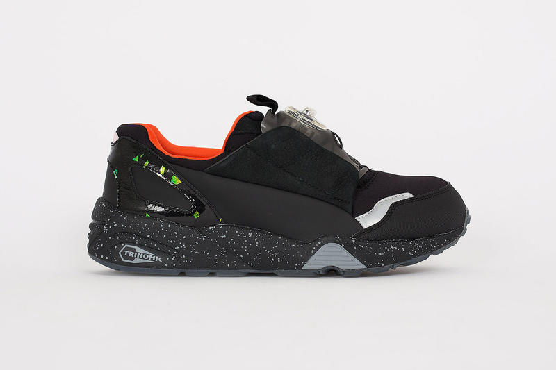 7cde2c7870039 A Closer Look at the McQ by Alexander McQueen x PUMA Disc Blaze. A  high-fashion makeover of streetwear classic kicks.