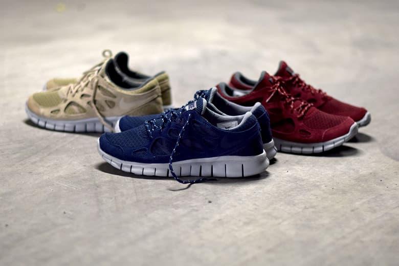 b437271b8806 Nike Free Run 2.0 Suede Pack Sneakers