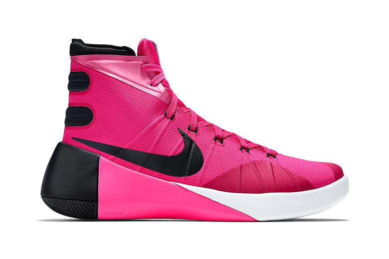 "low priced 5202e cbbbf Nike Hyperdunk 2015 ""Think Pink"". Another installment from Nike that raises  awareness for women s cancer via a bold colorway."