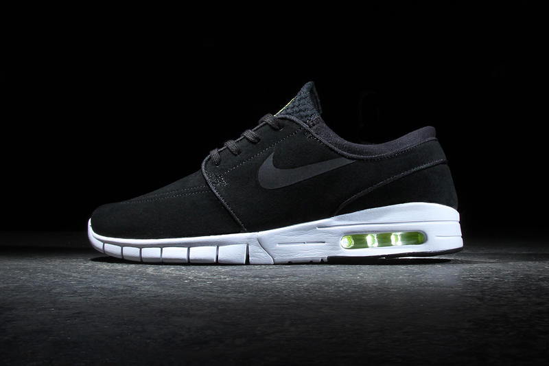 online store 9282d 7d40e Nike SB Stefan Janoski Max Leather Black Cyber-White. Nike elevates the SB  favorite.