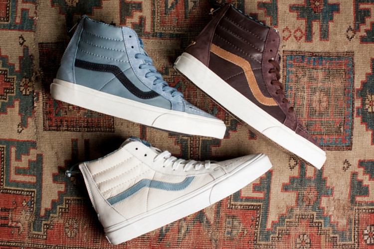 4566cbfa0b0097 Vans Leather Nubuck Sk8-Hi Zip CA