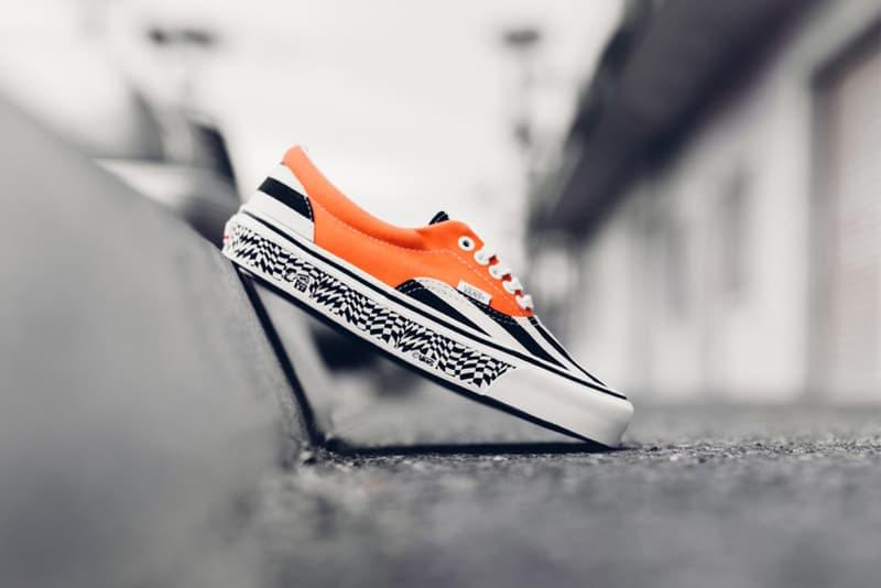 e206b69733 Vans Vault OG Era LX Black Stripe Mandarine Orange. A sneaker in homage to  the pre-punk skateboarding designs of the early  70.