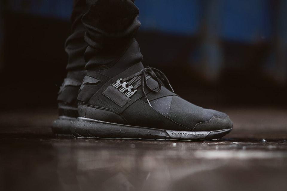 29d8e5cd0 Y-3 Qasa High Top Sneaker All Black