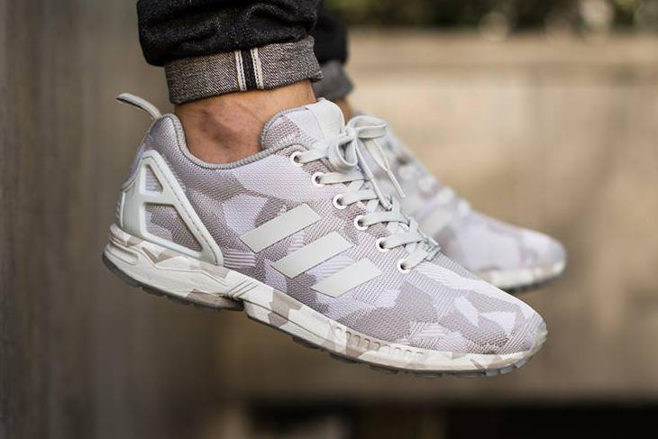 huge selection of 9d6e0 64737 adidas Originals ZX Flux Vintage White Clear Grey Camo ...