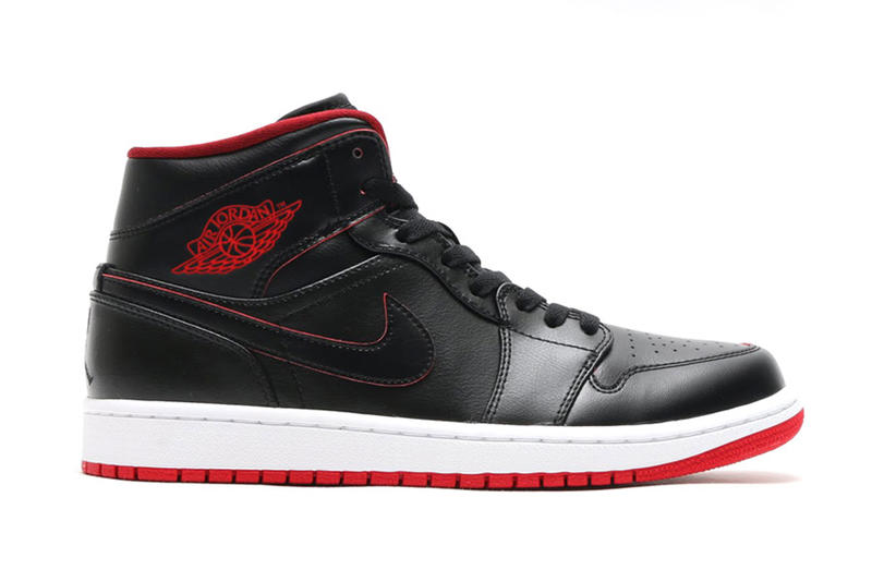 """c4affea781f029 ... Mid Black Black-White-Gym Red. A new """"Bred"""" take on the Air Jordan 1."""