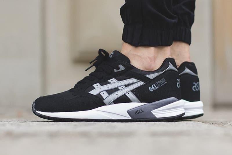 88cd3c02d2a8 ASICS GEL Saga Black Light Grey Sneaker