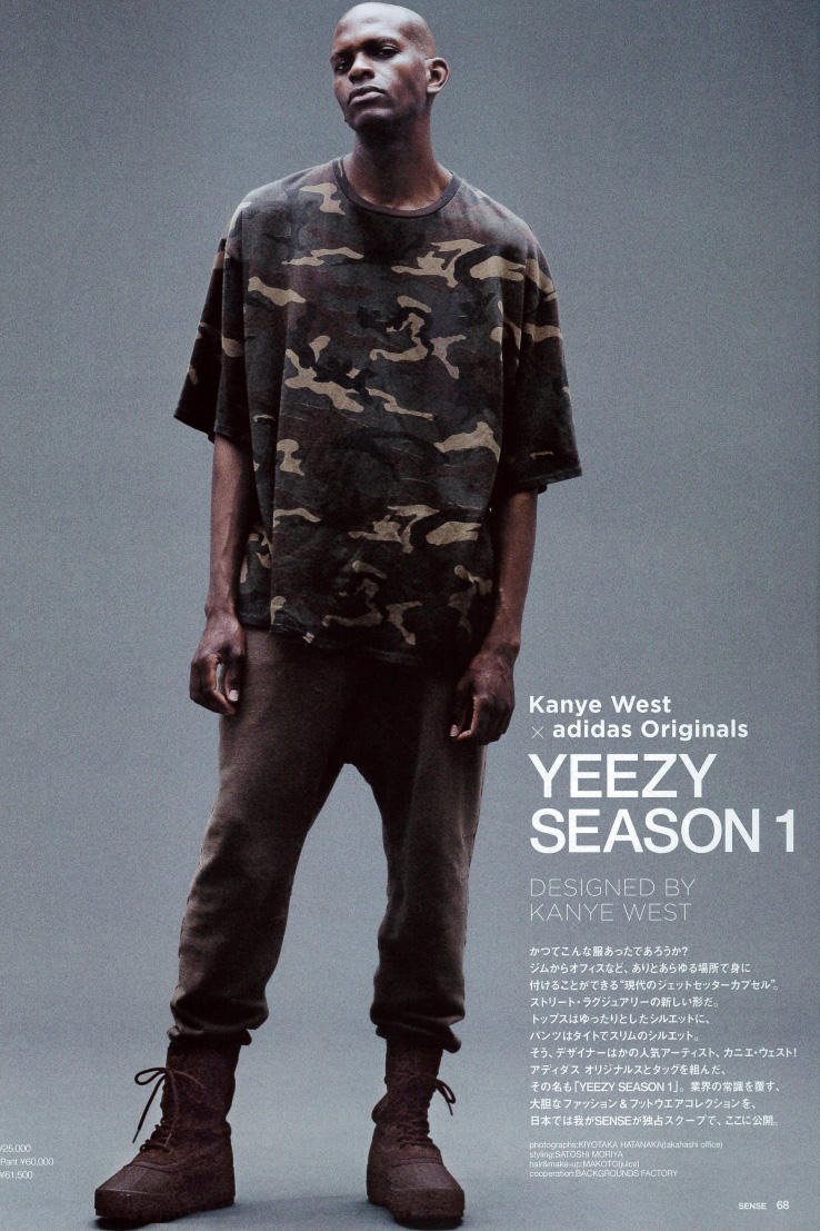 5ea5626a15742 Kanye West x adidas Originals YEEZY Season 1  SENSE  Editorial Including  Pricing. Check out this editorial