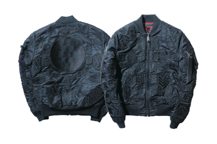 detailed look 47f50 c924a Marcelo Burlon Alpha Industries MA-1 Patch Embroidery ...