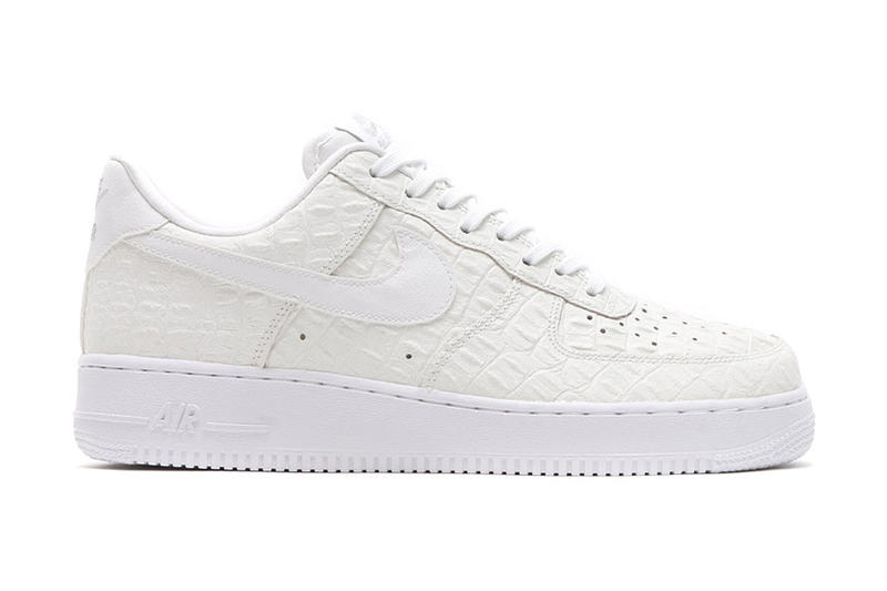 8c02acfaede2 Faux croc skin hits two tonal low-top Air Force 1s. 1 of 2