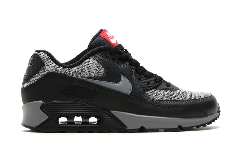 cbd84576d8aa Nike Air Max 90 Essential Black Cool Grey-Anthracite-University Red. A  clean black and grey combo.